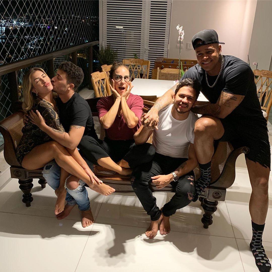 Lore, Carlinhos, Ivete, Lucas e Leo (Foto: Reprodução)