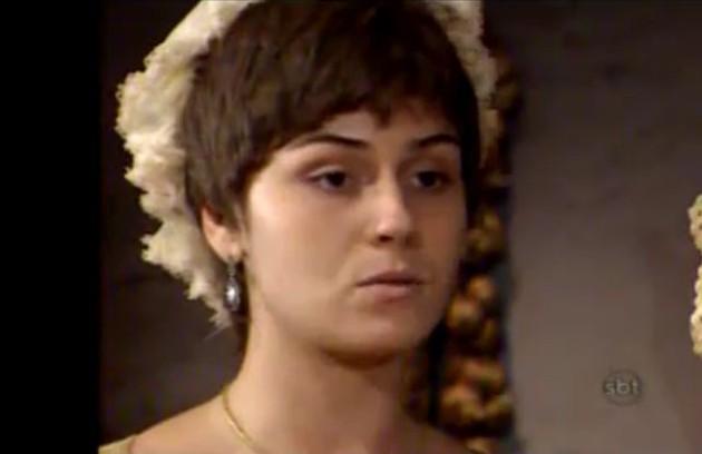 Giovanna Antonelli como Elvira, na novela 'Xica da Silva'. Exibido em 1996 pela TV Manchete, o folhetim foi reprisado anos depois pelo SBT (Foto: Reprodução)