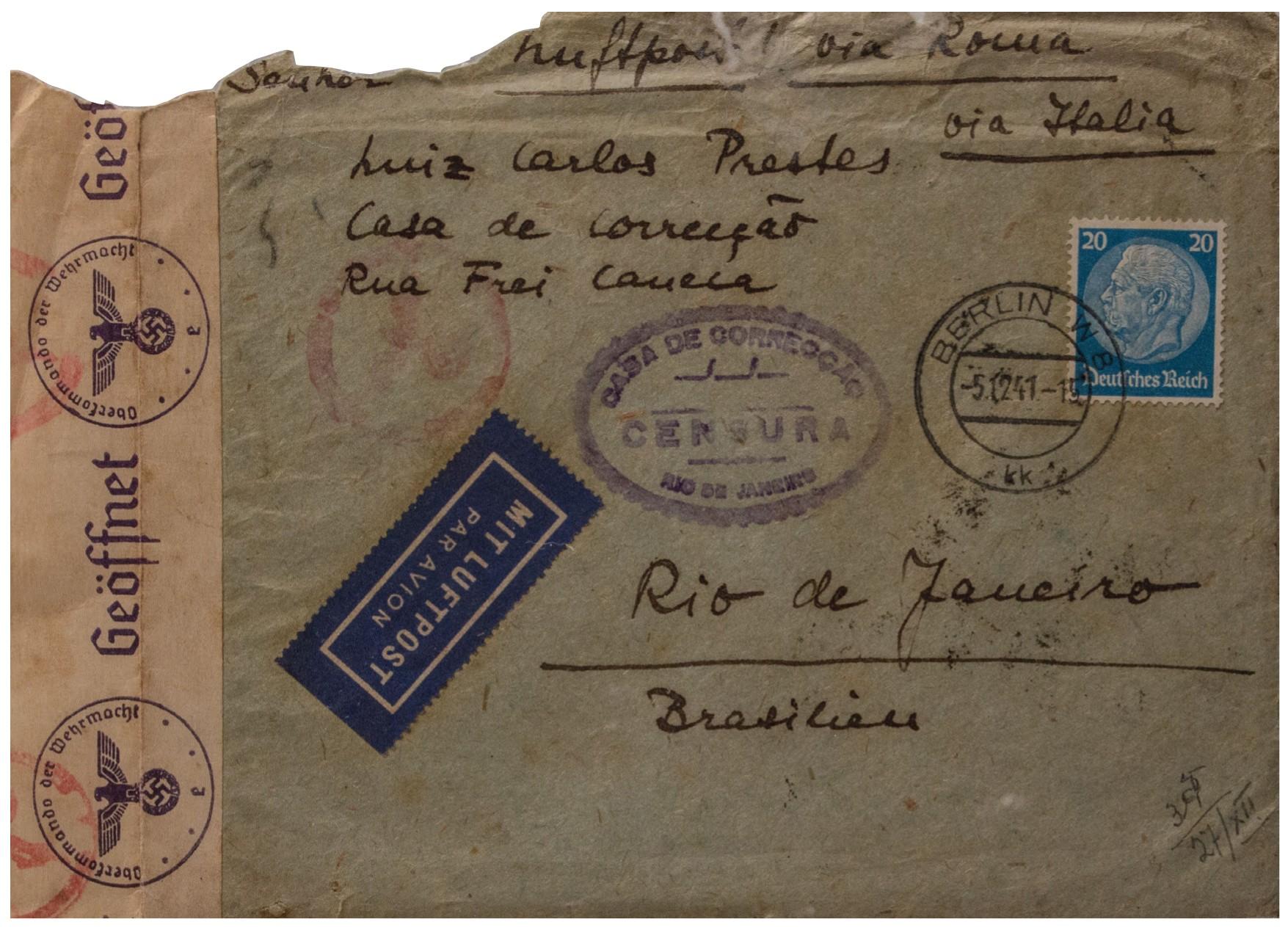 TJ-Rio determina arquivamento de processo sobre cartas de Olga Benário e Luís Carlos Prestes, que teriam sido achadas no lixo