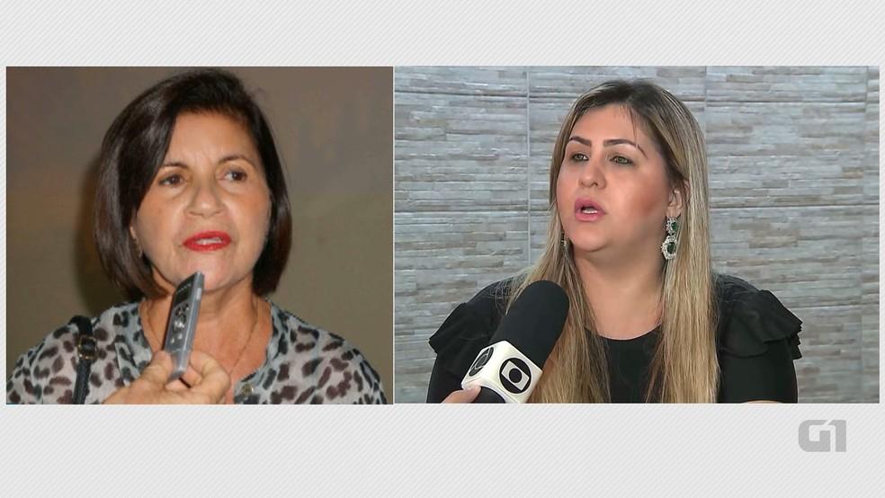 Prefeita e vice-prefeita de Mamanguape, Maria Eunice e Baby Helenita, respectivamente, tiveram mandatos cassados pela Justiça após compra de voto com cachaça (Foto: Reprodução/TV Cabo Branco/Arte/G1)