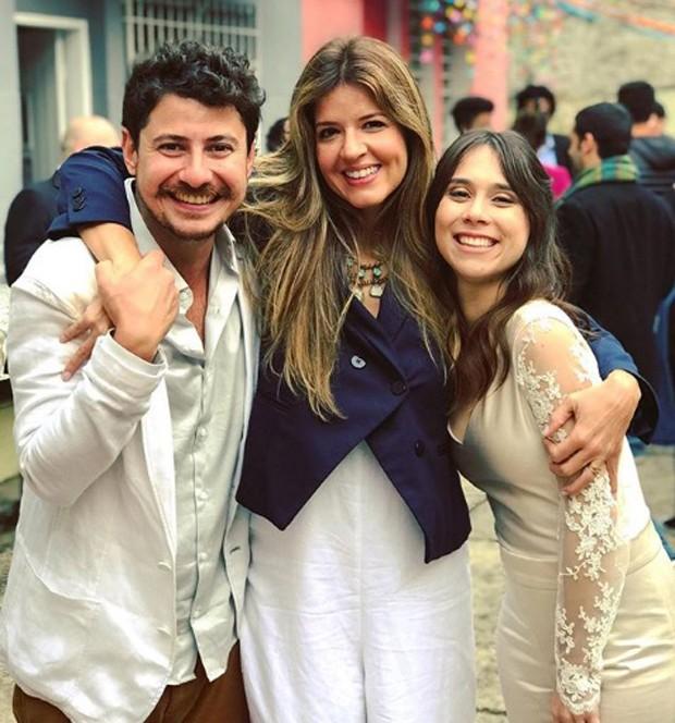 Gustavo Araujo, Marina Santos e Daphne Bozaski  (Foto: reprodução / Instagram)