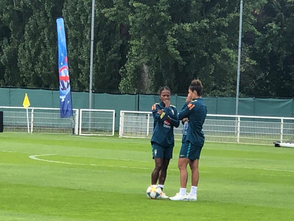 Cristiane é arma brasileira contra a Itália, mas Formiga está fora — Foto: Amanda Kestelman / GloboEsporte.com