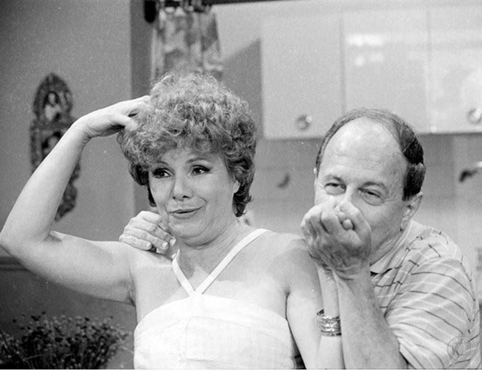 """Elóisa Mafalda e Renato Pedrosa em cena de """"Brilhante"""", de 1981 (Foto: Reprodução/Memória Globo)"""
