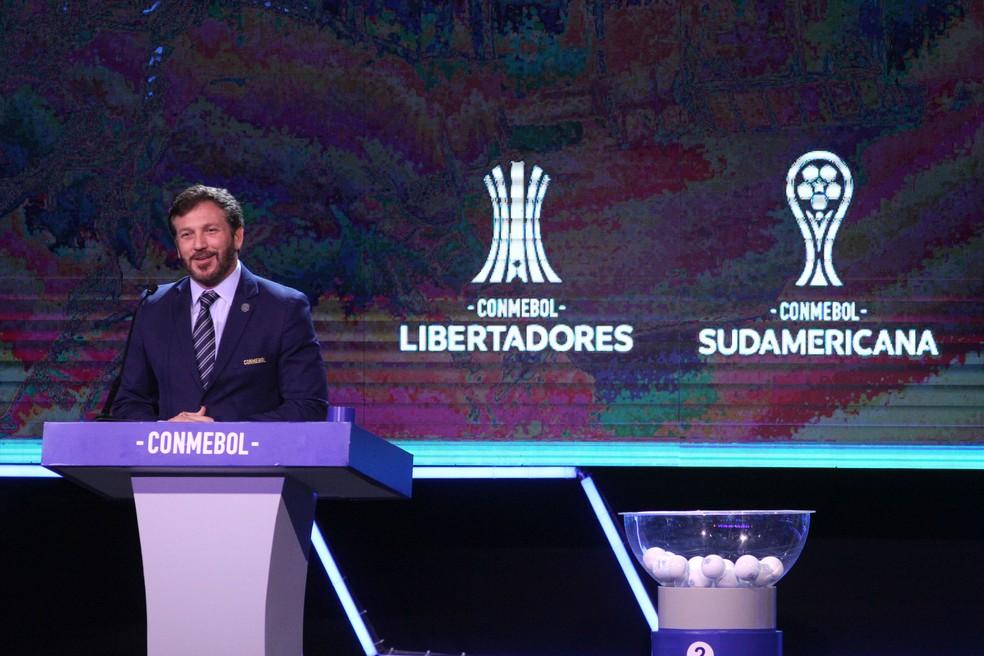 Alejandro Domínguez, presidente da Conmebol — Foto: Getty Images