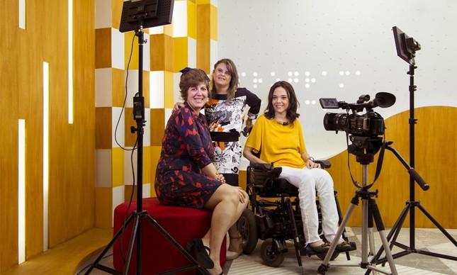 Ângela Patrícia, Fernanda Honorato e Juliana Oliveira: atração inclusiva