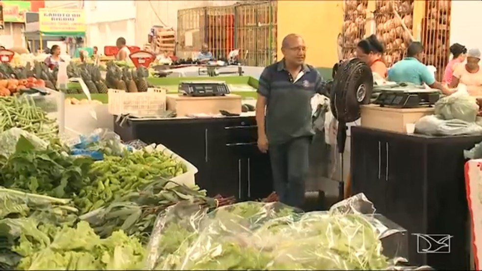 Ceasa em São Luís volta aos poucos à sua rotina (Foto: Reprodução / TV Mirante)