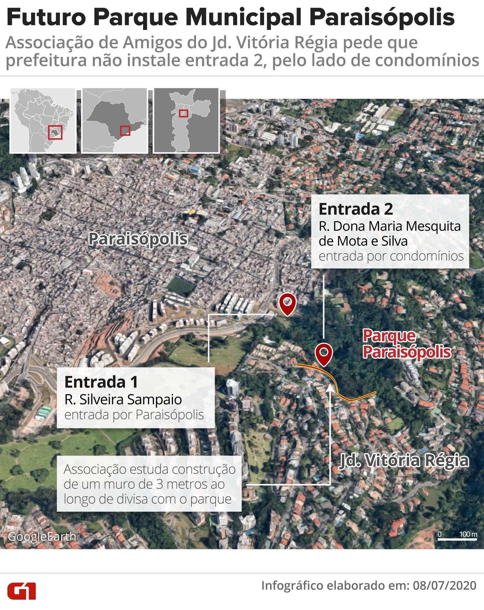 Moradores do Morumbi pedem permissão à Prefeitura de SP para construção de muro na divisa com futuro Parque Paraisópolis