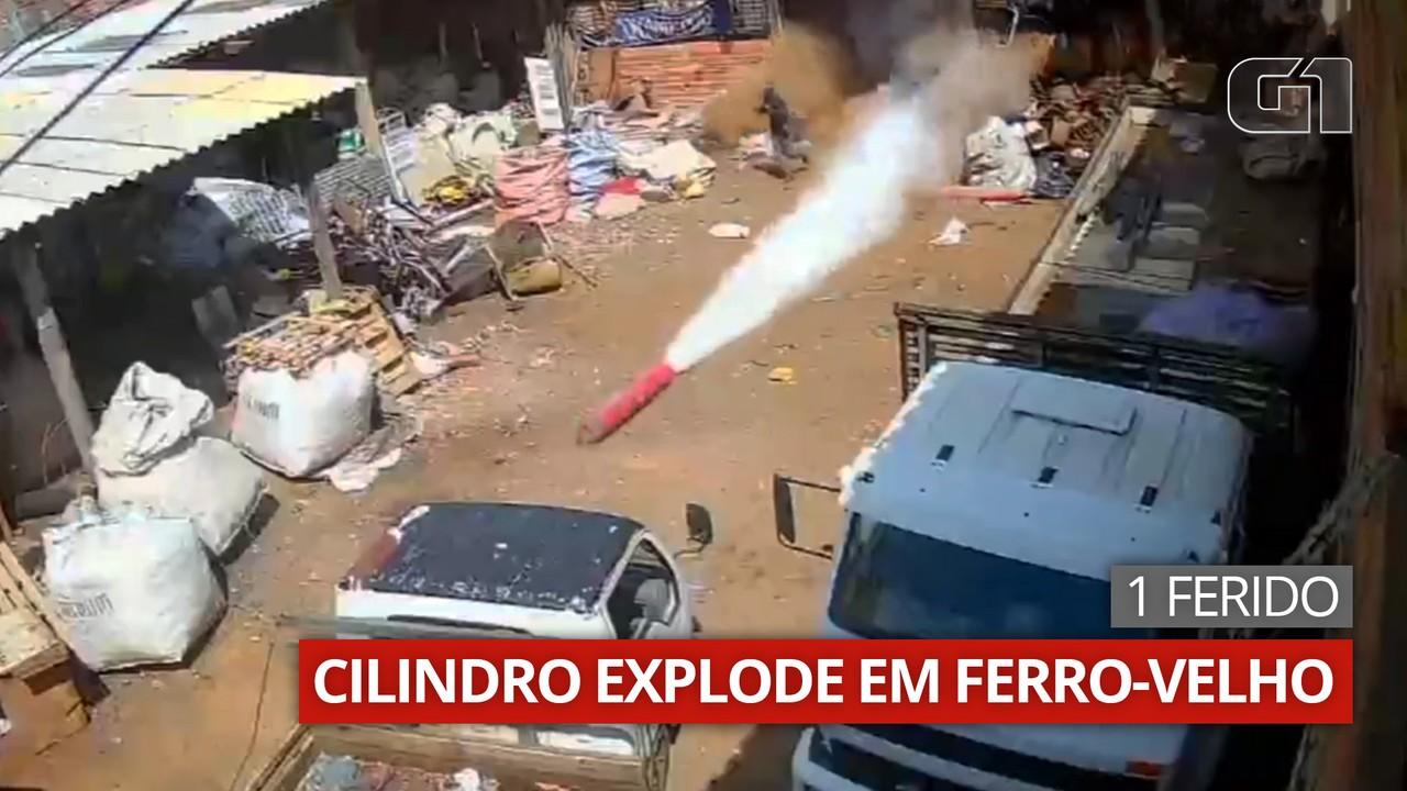Homem fica ferido após a explosão de cilindro de gás em ferro velho de Capão Bonito