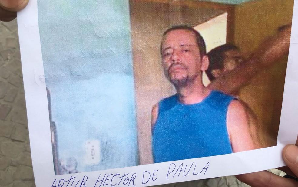 Artur Hector de Paula entrou para a lista de procurados nos escombros do edifício que desabou no Centro de São Paulo (Foto: Roberto Kovalick/TV Globo)