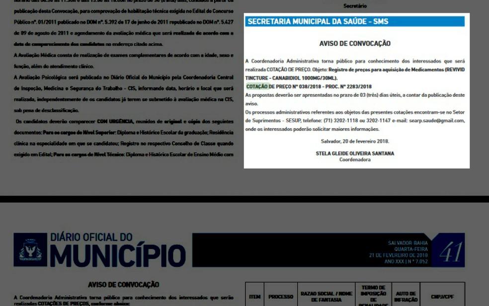 canabidiol1 Salvador abre cotação de preço para compra de medicamento à base de maconha