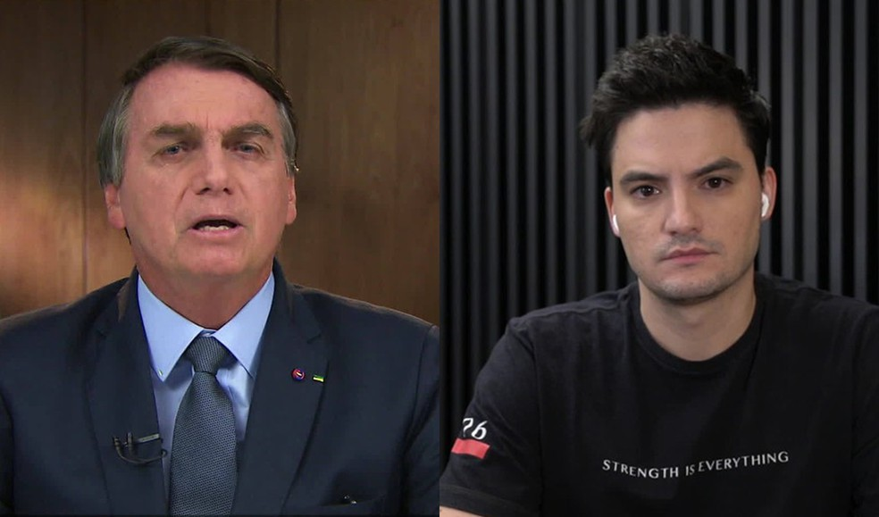 Bolsonaro e Felipe Neto — Foto: Montagem/G1