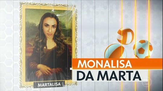 Monalisa da Rodada homenageia a jogadora Marta