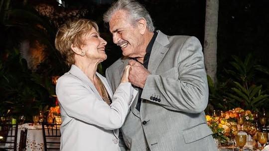 Glória Menezes e Tarcísio Meira completam 56 anos de casados, e ela se declara: 'Grande amor da minha vida'
