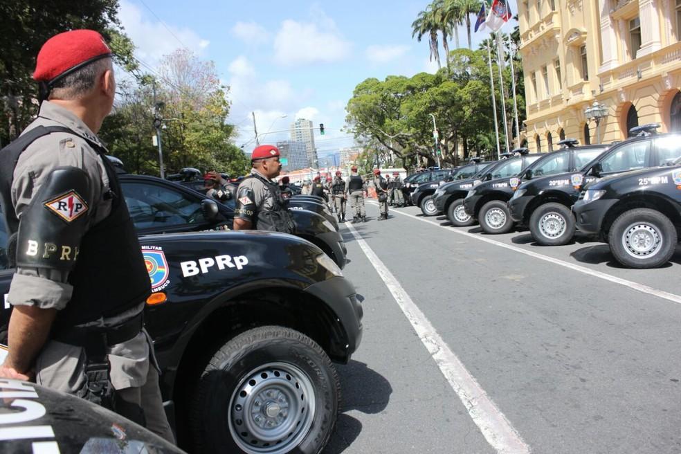 Aumento do número de policiais em Pernambuco contribuiu para redução dos índices de criminalidade em PE, diz governo — Foto: Bruno Lafaiete/TV Globo