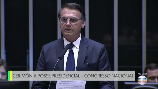 Bolsonaro propõe 'pacto nacional' e fala em 'reconstruir' o país ao tomar posse no Congresso