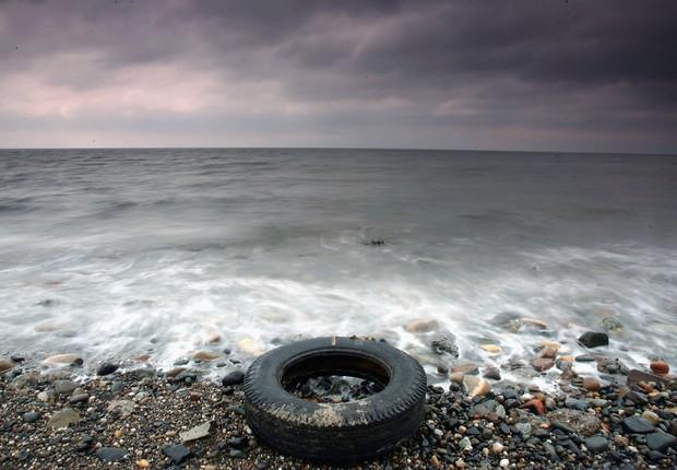 Praia no Reino Unido (Foto: Christopher Furlong/Getty Images)