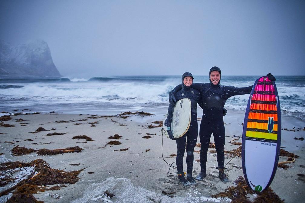 Local é procurado para o surfe desde 1963 (Foto: Roeder Moritz)