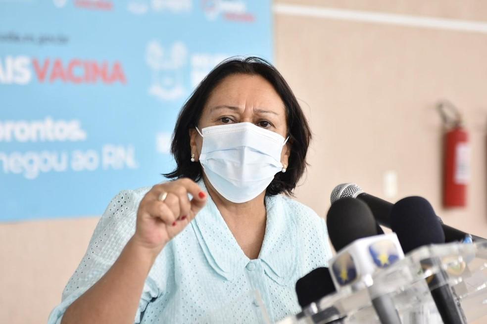 Governadora do Rio Grande do Norte, Fátima Bezerra — Foto: Elisa Elsie