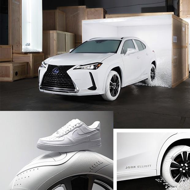 """Motor: Detalhes do AF1 desenhado por Elliott para a Nike que virou inspiração para o pneu """"urbano"""" da Lexus (Foto: divulgação)"""
