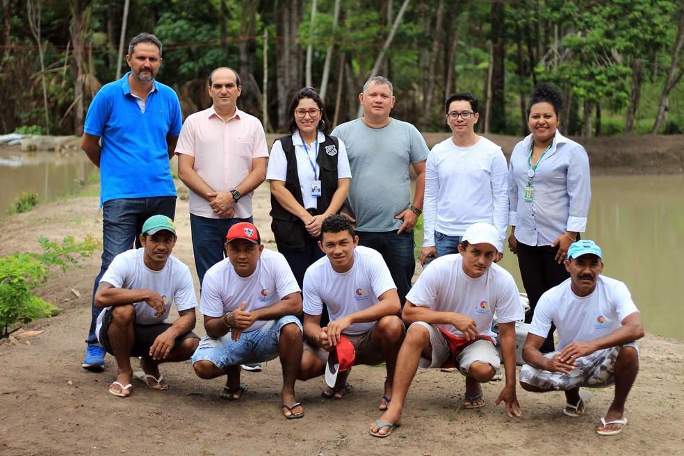 17 presos participam do projeto que visa a ressocialização no presídio de Santarém — Foto: Veloso Júnior/Ascom Segup/Divulgação