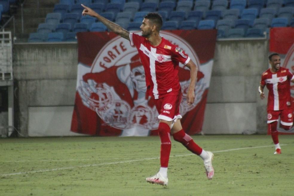 Augusto fez quatro gols na Série D — Foto: Canindé Pereira/América FC