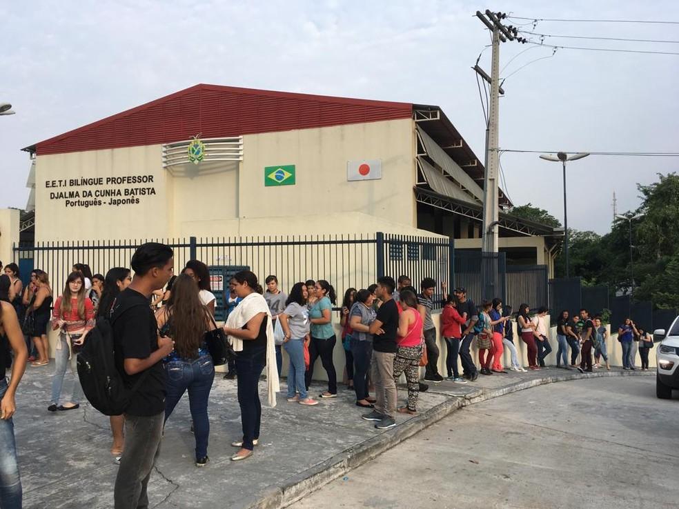 Provas do PSC da Ufam foram aplicadas em Manaus e no interior (Foto: Ariane Alcântara/G1 AM)