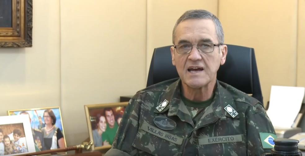 Comandante geral do Exército, general Villas Bôas (Foto: Youtube/Exército Brasileiro)