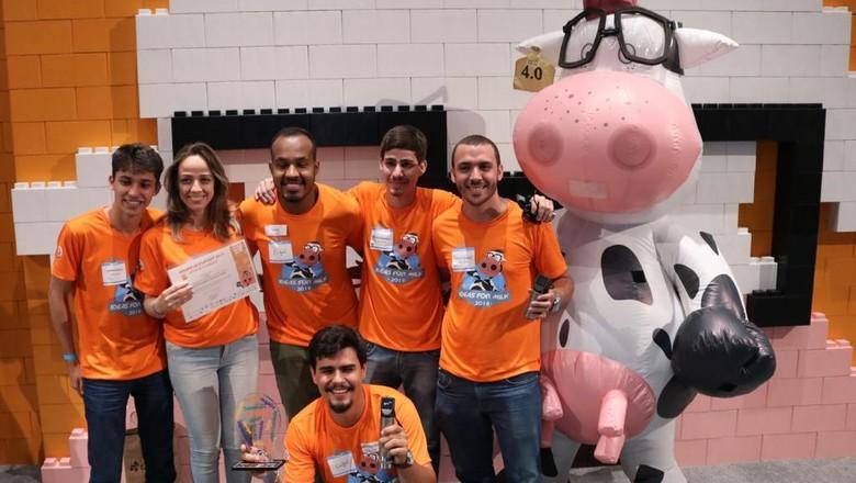Equipe vencedora do Desafio das Startups (Foto: Divulgação)