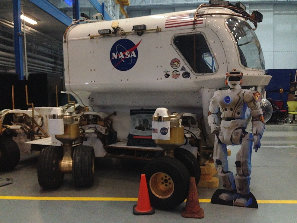 Simulador da nave que será enviada a Marte (Foto: Andrea Cavalheiro e Filipe Cury)