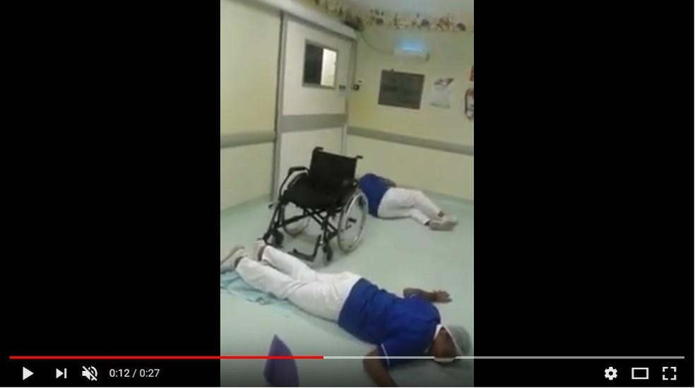 Funcionários postaram os vídeos nas redes sociais (Foto: Reprodução/Youtube)