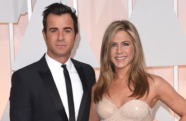 Jennifer Aniston e o ex-marido, Justin Theroux (Foto: Getty Images)