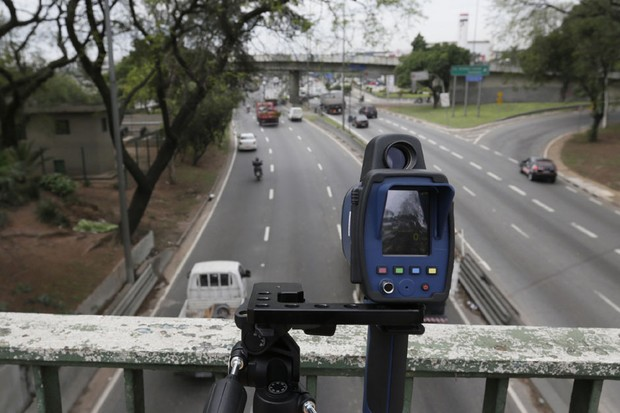 Radar de velocidade máxima na cidade de São Paulo (Foto: Cesar Ogata / Secom (10/09/2015))