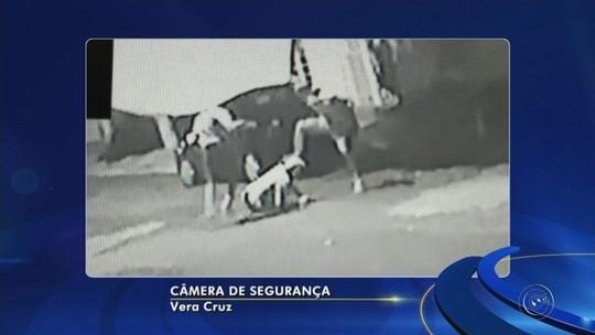 Idoso é agredido por dois homens no meio da rua em Vera Cruz