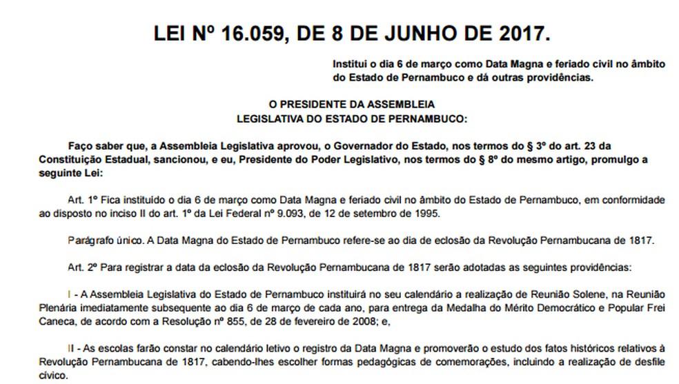 Decisão foi publicada no Diário Oficial do estado e elenca algumas medidas que deverão ser adotadas.  (Foto: Reprodução/Diário Oficial)