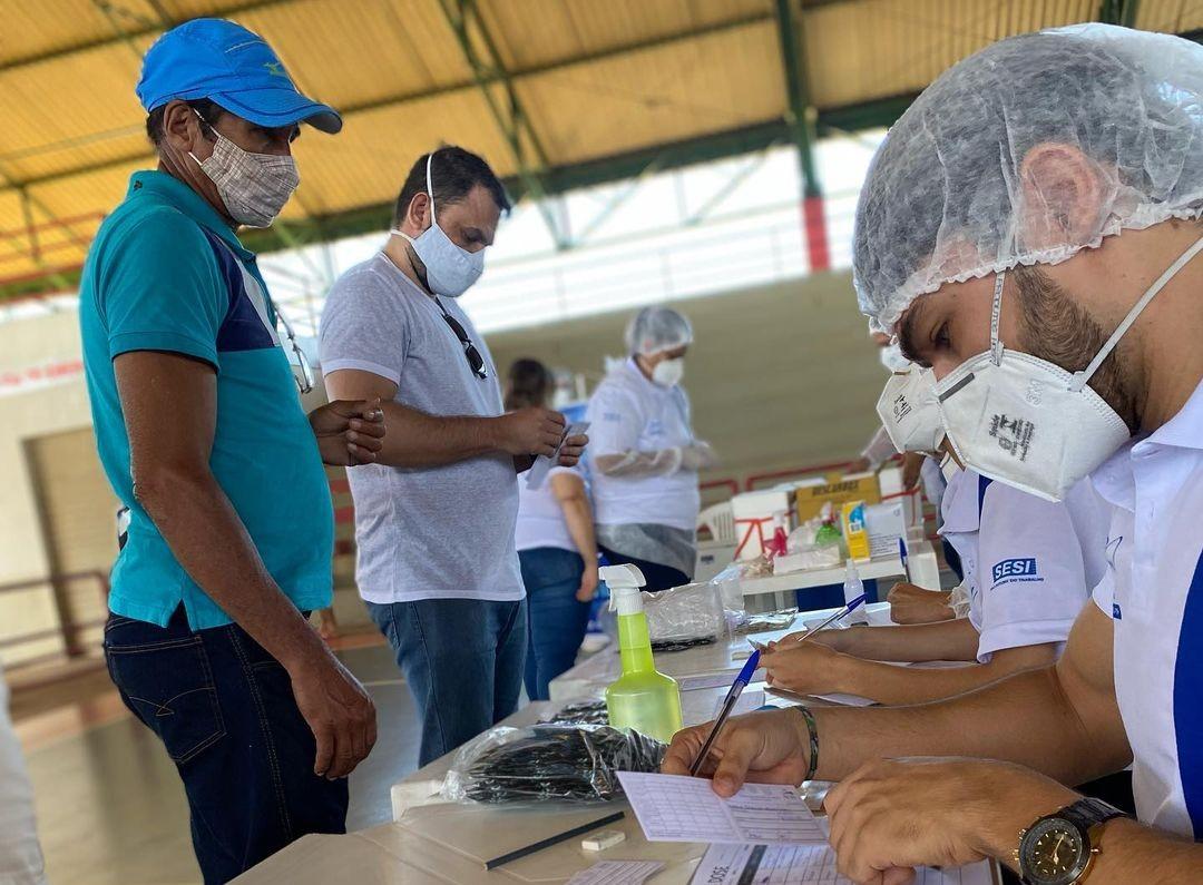 Mais de 6 mil trabalhadores da indústria devem tomar 2ª dose da vacina contra a Covid-19 em Rio Branco