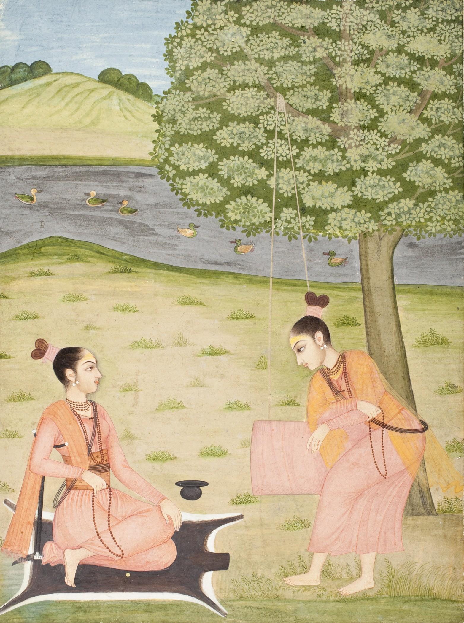 Ilustração indiana representa prática de ioga (Foto: Wikimedia Commons)