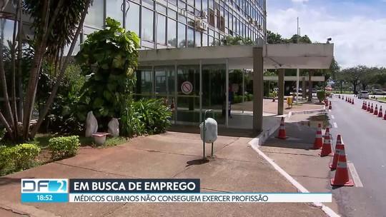 Médicos cubanos dizem que não conseguem emprego no DF