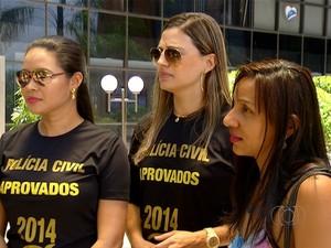 Aprovados no concurso da Polícia Civil se sentem frustrados no Tocantins (Foto: Reprodução/TV Anhanguera)