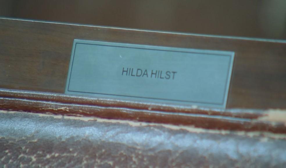 Autora tem cadeira cativa na Academia Jauense de Letras  (Foto: TV TEM / Reprodução )