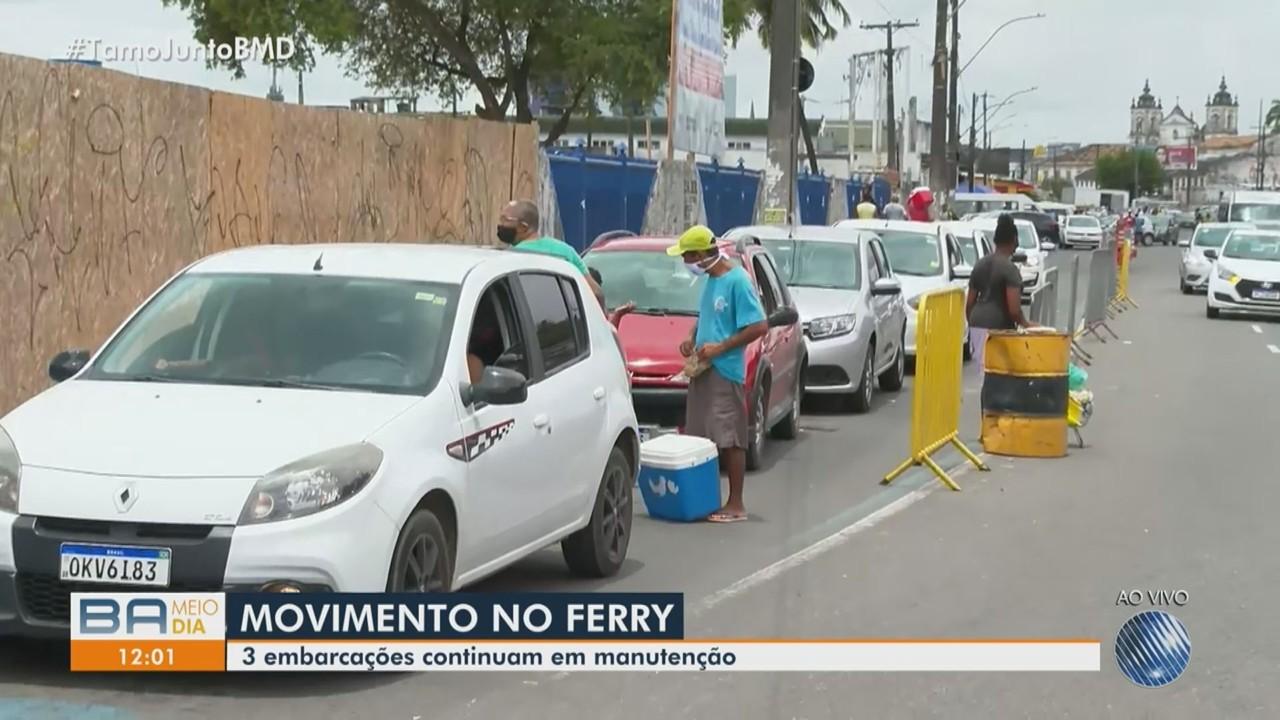 Embarque no Terminal de São Joaquim lento porque três embarcações estão em manutenção