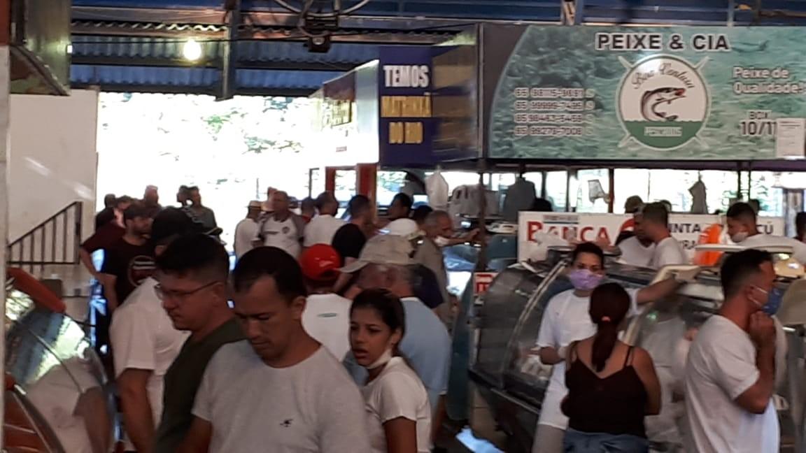 Mercado do Porto em Cuiabá reabre dois dias depois de interdição por descumprimento de regras