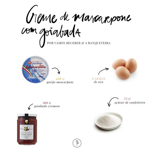 Creme de mascarpone com goiabada leva só quatro ingredientes (Foto: Vamos Receber)