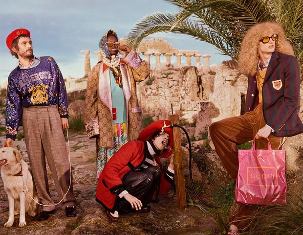 Gucci Pre Fall 2019 (Foto: CREATIVE DIRECTOR: Alessandro Michele  ART DIRECTOR: Christopher Simmonds  PHOTOGRAPHER/DIRECTOR: Glen Luchford HAIR STYLIST: Paul Hanlon  MAKE-UP ARTIST: Thomas De Kluyver )