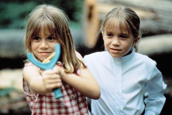 As irmãs Mary-Kate e Ashely Olsen quando crianças (Foto: Reprodução)