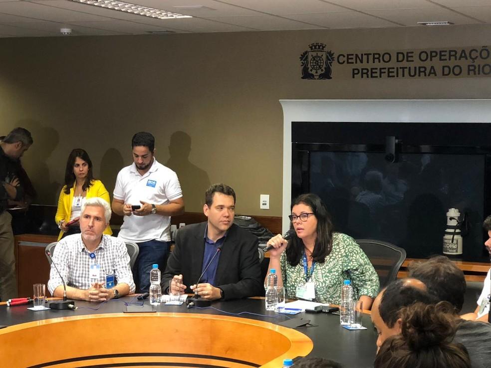 Paulo Messina explica cortes de equipes na saúde do município do Rio — Foto: Matheus Rodrigues/G1