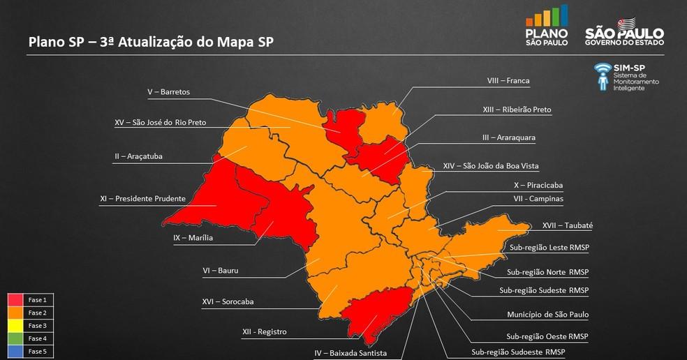 Nova atualização do Plano São Paulo — Foto: Reprodução