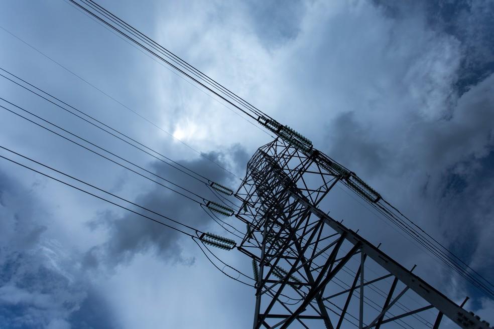 Linha de Transmissão de energia da Eletropaulo, em São Paulo (Foto: Marcelo Brandt/G1)