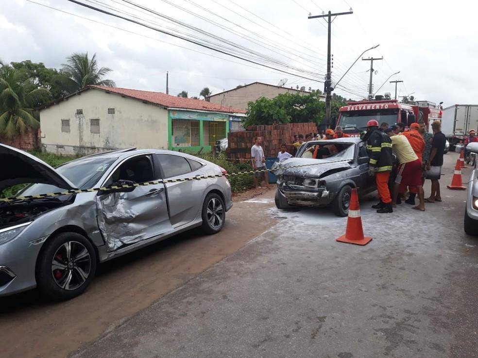 Colisão ocorreu no Povoado São Bento, em Maragogi, Alagoas — Foto: Divulgação/Corpo de Bombeiros