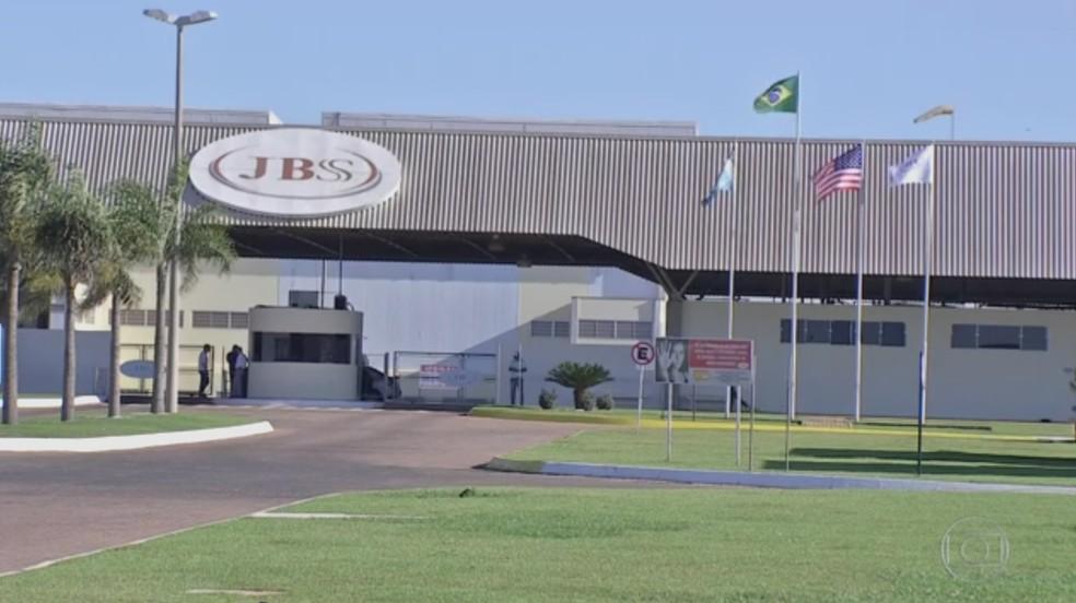 JBS em Mato Grosso do Sul (Foto: Reprodução/ TV Morena)