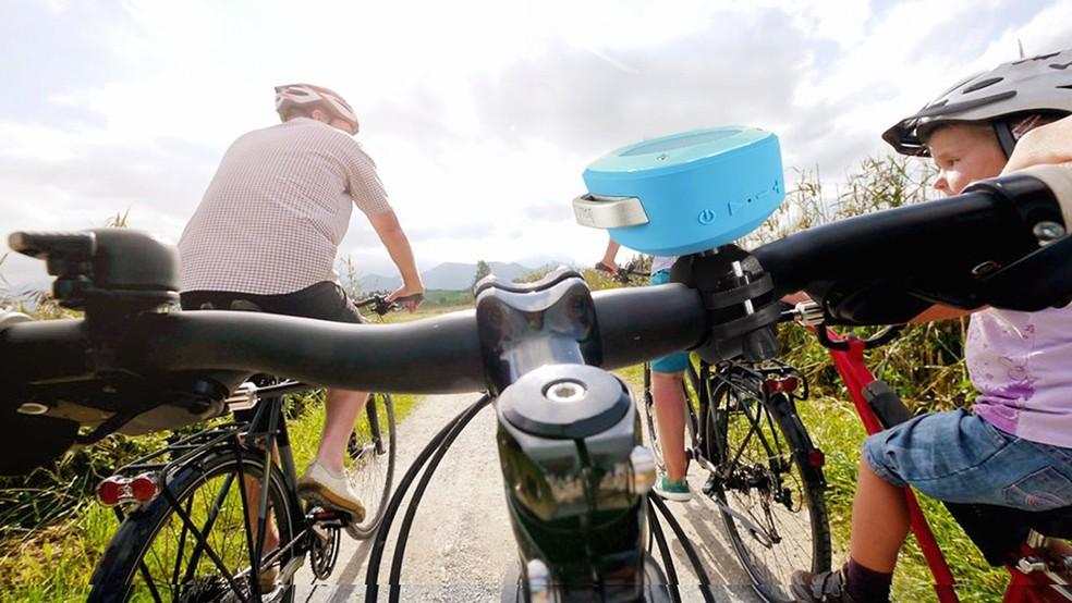 Divoom Airbeat 10: modelo para bicicletas também projeta som em superfícies planas (Foto: Divulgação/Divoom)